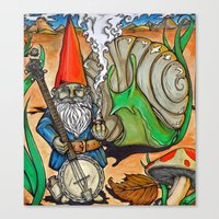 gnome Canvas Prints featuring Gnome by Steven Suiter