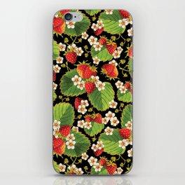 Strawberries Botanical iPhone Skin