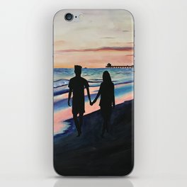 Lovers Stroll by the Beach iPhone Skin