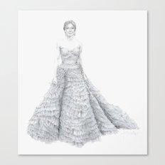 Amy Adams in Oscar de la Renta Canvas Print