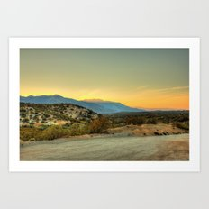 Saturday's Sunet Art Print