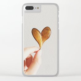 Perfect heart by nature leaf Clear iPhone Case