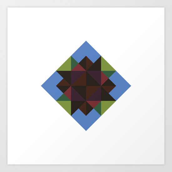#394 Diamond in the sky – Geometry Daily Art Print