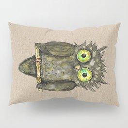 Black little owl Pillow Sham