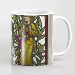Two Minstrels vintage Stained Glass Coffee Mug