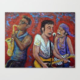 Prove It All Night -  Bruce Springsteen, Clarence Clemons, Steven Van Zandt Canvas Print