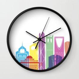 RiyadhV2 skyline pop Wall Clock