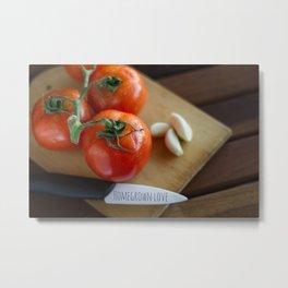 Home-grown tasty tomatoes Metal Print