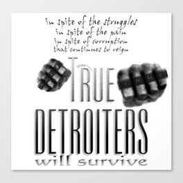 True Detroiters Canvas Print