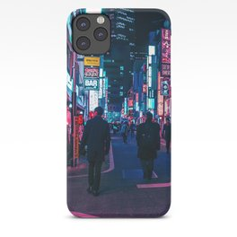 Take A Walk Under The Neon iPhone Case