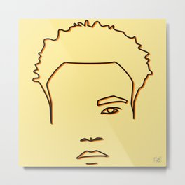 Childish Gambino - Yellow & Orange palette Metal Print