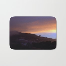 Winter sunrise over the mountains | landscape photography Bath Mat
