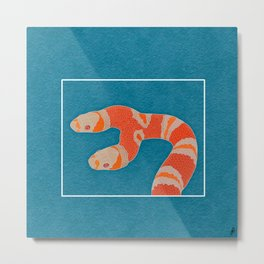 Two-Headed Snake Metal Print