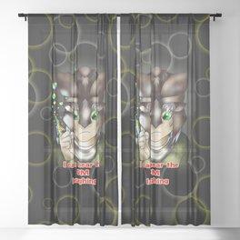 dnd warrior elf can hear the dm laughing Sheer Curtain