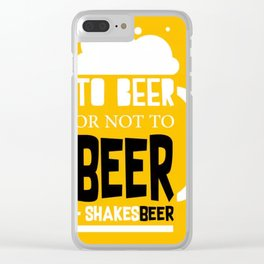 Beer Pun Clear iPhone Case