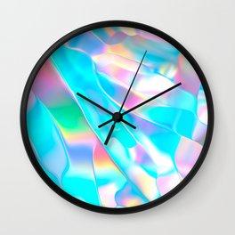 Blue Opal Iridescent  Wall Clock