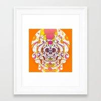sugar skulls Framed Art Prints featuring Sugar Skulls by Spooky Dooky