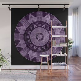 ethnic circle with watercolors Wall Mural