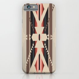 American Native Pattern No. 285 iPhone Case