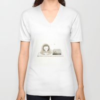cage V-neck T-shirts featuring Cage by Judith Loske