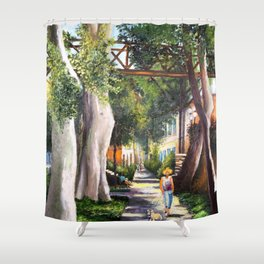 Barranco - Bridge of sighs #eclectic art Shower Curtain