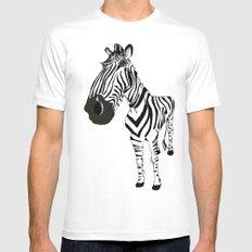 Zebra MEDIUM Mens Fitted Tee White