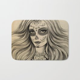 Sugar Skull Bath Mat