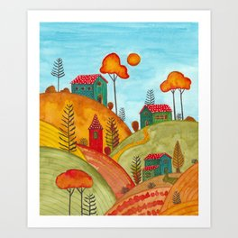 Colorful forest IV Art Print
