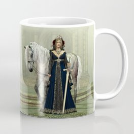 Medieval Lady and Horse Coffee Mug