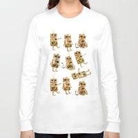 robots Long Sleeve T-shirts featuring robots by Lara Paulussen