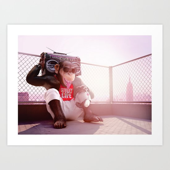 Monkey Beat Art Print