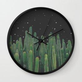 Starry Night Cactus Wall Clock