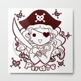 Kawaii Kiddies Cute Pirate! Metal Print