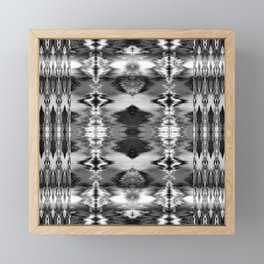 B&W Watercolor Ikat Framed Mini Art Print