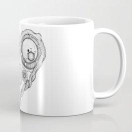 Chemistry of love: dopamine and serotonin formula (black and white version) Coffee Mug