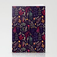 Stationery Cards featuring Botanical pattern by Oilikki