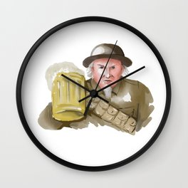 Uncle Sam WW1 Soldier Toasting Beer Watercolor Wall Clock