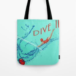 Dive In Head First Tote Bag