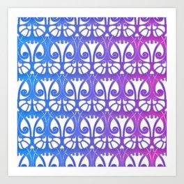 Beautiful ombre art nouveau pattern Art Print