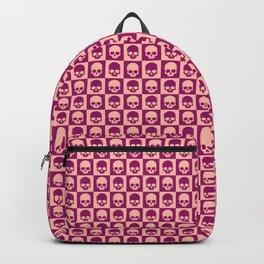 Checkered Skulls Pattern II Backpack