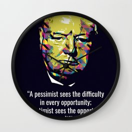 Winston Churchill Quotes Wall Clock