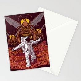 Killer bees on Mars. Stationery Cards