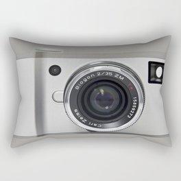 silver camera Rectangular Pillow