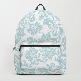 Light Blue & White Floral Damasks Backpack