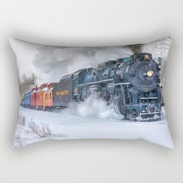 North Pole Express Train (Steam engine Pere Marquette 1225) Rectangular Pillow
