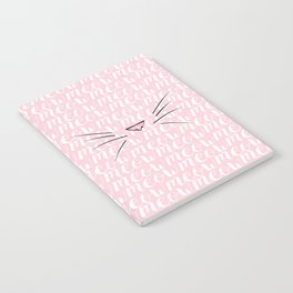 Crazy Cat Lady (Meow Meow Meow Pattern) Notebook