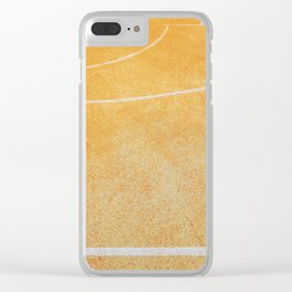 basketball court Clear iPhone Case