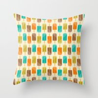 popsicle Throw Pillows featuring Popsicle by Liz Urso
