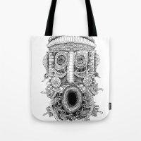 birdman Tote Bags featuring birdman by Evaldas Boo
