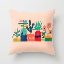 Plant mania Throw Pillow